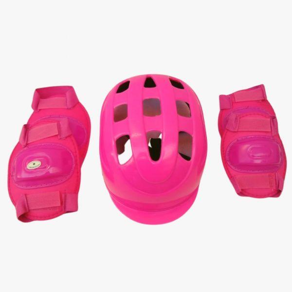 Kit Proteção Infantil Para Skate Patins Patinete Rosa
