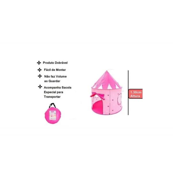 Barraca Infantil Grande Castelo Das Princesas - Dm Toys
