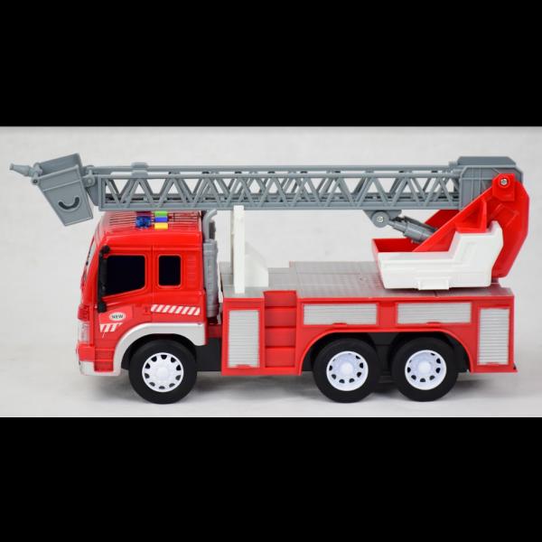 Brinquedo Caminhão Bombeiro Som Luz Fricção Escada BBR Toys