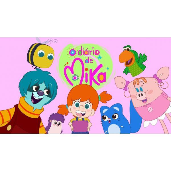 Pelúcia Bru Ouriço Medroso Desenho O Diário De Mika - Lovely Toys