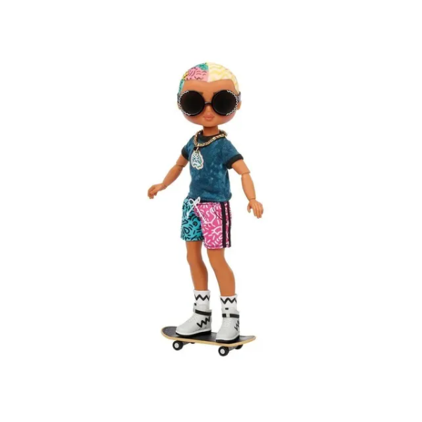 LOL Surprise OMG Guys Fashion Doll Cool Lev with 20 Surprise