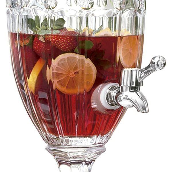 Suqueira Dispenser Cristal Para Bebida 4,5 Litros Class Home