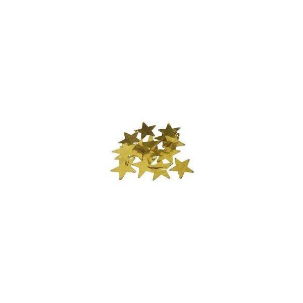 Tubo Lança Confetes Papel Laminado Festa Estrela Dourada