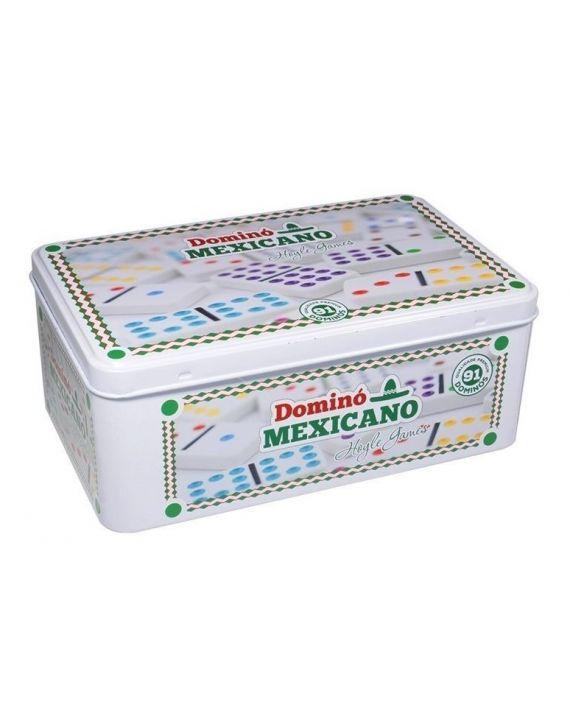 Jogo Dominó Mexicano Double12 Colorido 91 Pedras Melanina