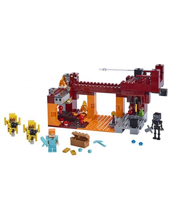 Lego Minecraft Ponte Flamejante 372 Peças E 3 Figuras - Lego