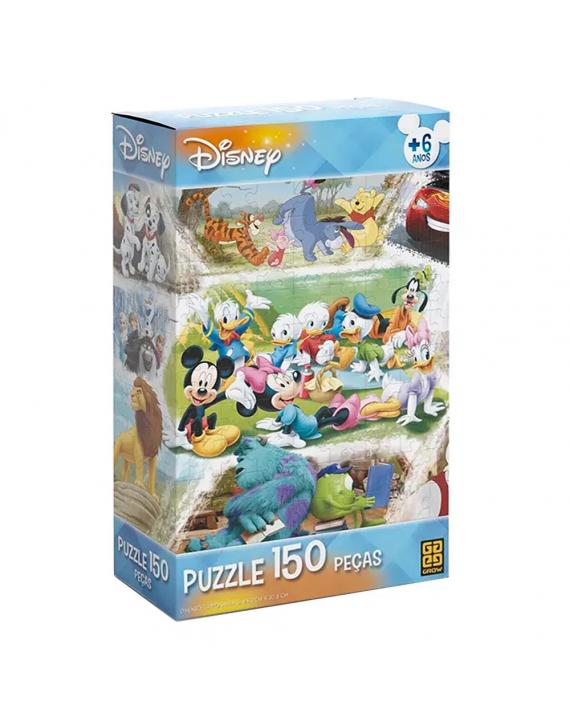 Jogo Puzzle Quebra Cabeça 150 Peças Disney - Grow