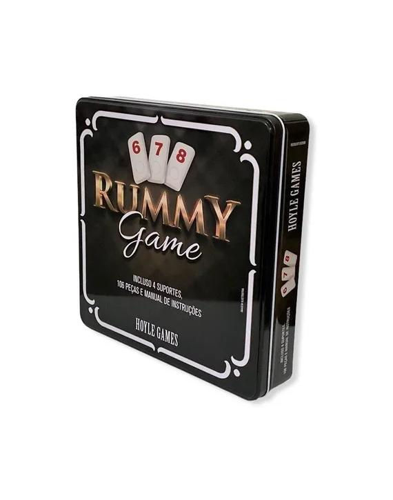 Jogo Rummikub Rummy Gaming Estojo Lata 106 Pçs Hoyle Games
