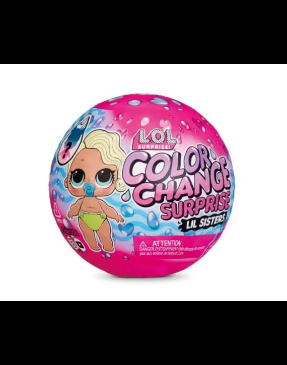 Boneca Lol Color Change Lil Sister 5 surpresas - Candide