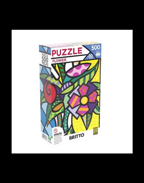 Jogo Puzzle 500 Peças Flower Romero Britto  -Grow