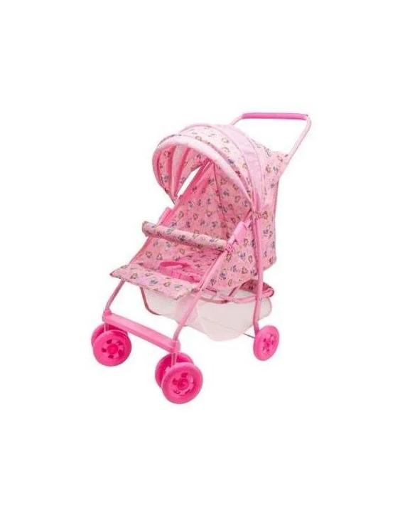 Carrinho De Boneca Bebe Reborn Luxo Milano De Ferro Rosa