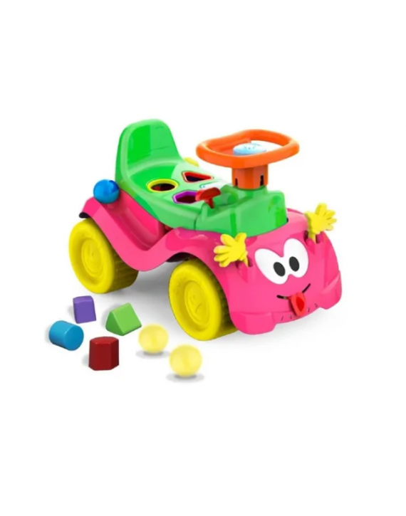 Motoca Totokinha Bolinha Menina Cx Parda Cardoso Toys