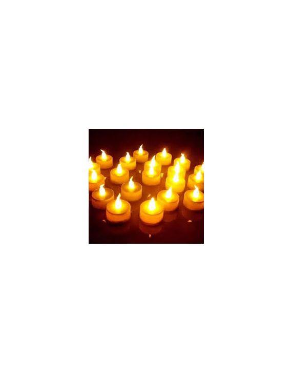 Kit 12 Velas Led Decorativas Enfeite Natal Bateria Inclusa