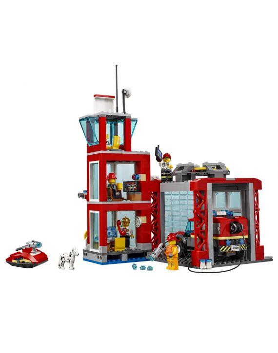 Lego City Quartel General Dos Bombeiros Luz  E Som - Lego