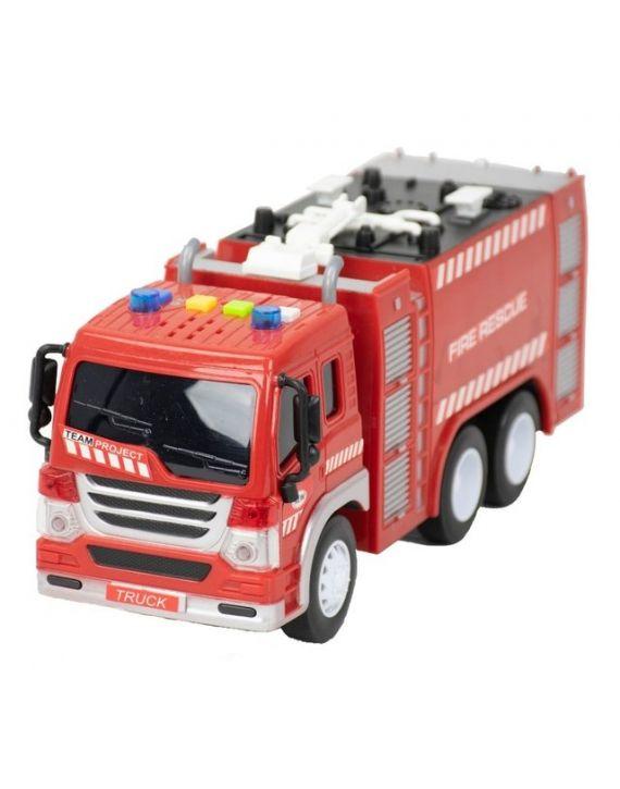Brinquedo Caminhão Tanque Bombeiro Fricção  Som Luz BBR Toys