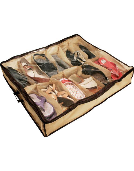 Sapateira Flexível 12 Pares Organizador Sapatos Debaixo Cama