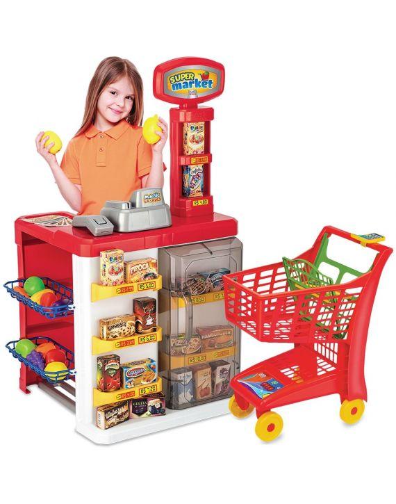 Mercadinho Super Market com carrinho de compras - Magic toys