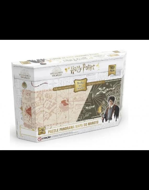 Jogo Quebra Cabeça Harry Potter P500 Brilha No Escuro Grow