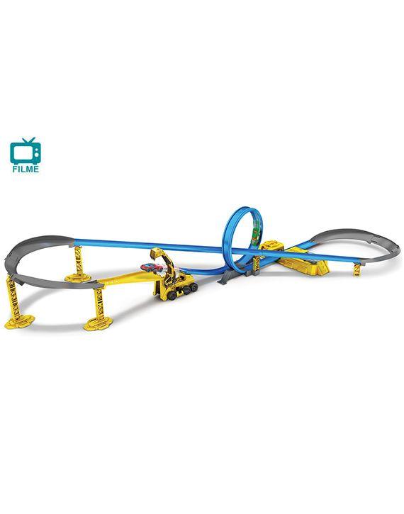 Pista Escala Hotwheels Metal Machines Construção Candide