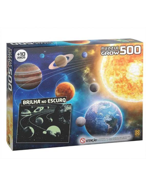 Quebra cabeça 500 Peças Sistema Solar Brilha no escuro - Grow