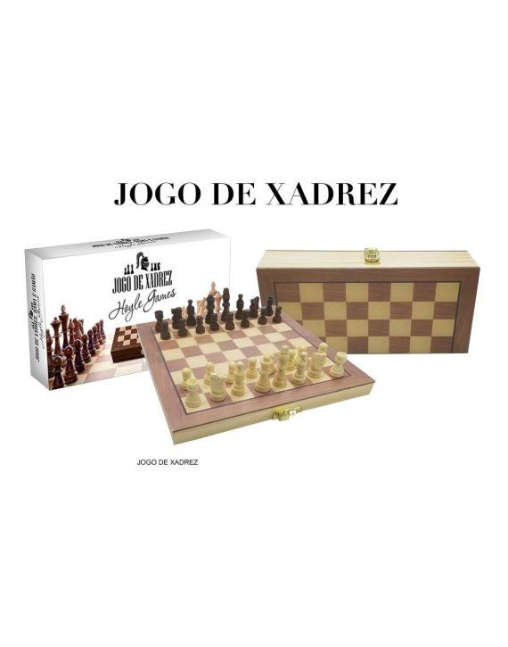 Jogo Xadrez Dama Peças E Tabuleiro Em Madeira PQ 29 X 29 cm