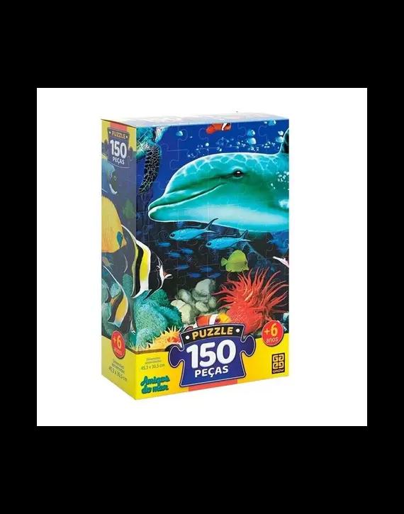 Jogo Quebra Cabeça Puzzle 150 Peças - Amigos do Mar - Grow