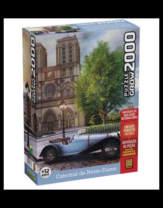 Jogo Quebra Cabeça Puzzle 2000 pçs Catedral Notre-Dame Grow